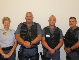 The Task Team members: WO Sonja Roos,WO Jan Roos, Sgt Ockert Venter and Const Jacques Vivier.