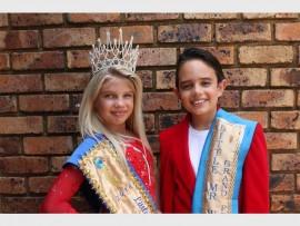 Natalie (9) en Evan (10) Krause van Dalpark het onlangs die Klein Mej Wêreld SA en Klein Mnr Wêreld SA titels ingepalm.
