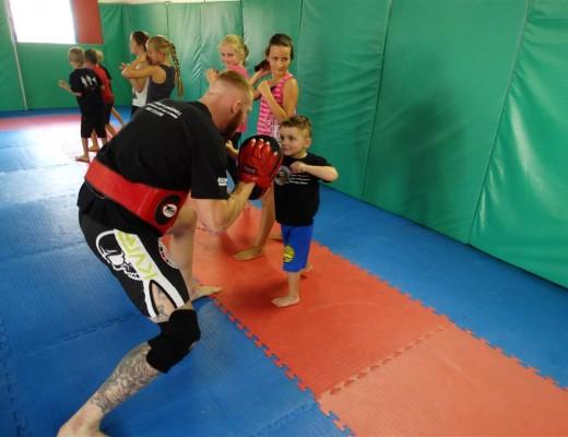 Emmett van der Sandt tries his punches.