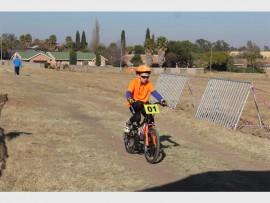 Ricardo da Silva (7) won the u-10 cycle race held at Van Dyk Dam in Brakpan on Sunday.