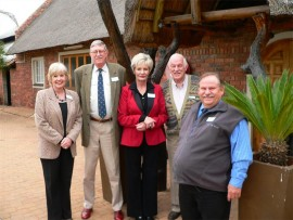 Marina Rathe (left), principal of Springs Technical High School, with Mike du Toit, vice president of the Eastern Gauteng Chamber of Commerce and Industry (EGCCI), Anita Greeff, general manager at EGCCI, Fred Jones, manager of the Business Linkage Centre, and Freddie Liddle from the Department of Basic Education.
