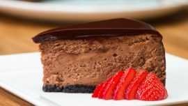 Treat yourself to some chocolate mousse cheesecake