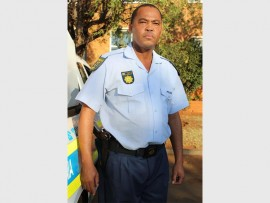 Warrant Officer James Patrick Tladi who is in charge of firearm licensing at the Westonaria police station.