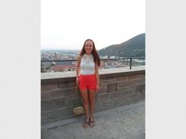 Karoline Strydom van Hoërskool Riebeeckrand wat Duitsland besoek het.