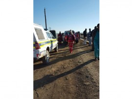 The scene after the body of a man was found floating in a water canal. Photo courtesy of ER24.