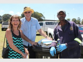 Veronique Shackleton, Councillor Peter Dick from ward nine and Winston Kete from the Randfontein Municipality.