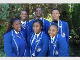 Front : Pearl Mabuela, Ramasela Mashatola and Jamie Phiri. Back : Obakeng Seageng, Tshepo Mofokeng and Cantona James.