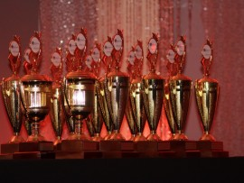 Trophies for the West Rand Top Achievers Awards.