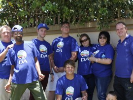 The DA Ward 7 team also known as the fun ward team after a day in the sun checking voter registration details.
