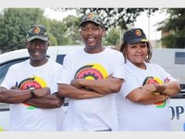 Thuso Mohohlo (secretary), Ally Mosina (chief convener) and Chicco Motjuwadi (deputy chief convener of the RPP).