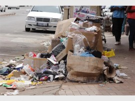 The rubbish pile in front of the first business the Herald spoke to.