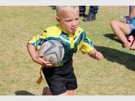 Dylan Venter gee alles op die rugbyveld. Foto: Annie Nolan.