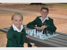 Anri Graaff en Tiaan Nagel, Ram se skaakmeesters. Foto: Annie Nolan.