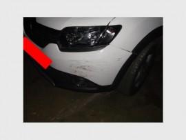 Die verdagte se voertuig na die jaagtog. Foto: EPR.