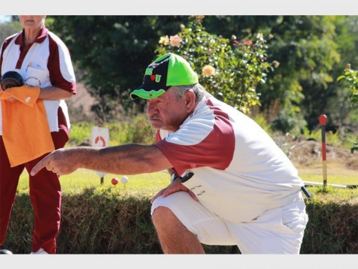Martiens Botha on the Randfontein Bowling Club rink. The Gauteng Open starts @9am on Saturday and then again @9am on Sunday.