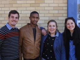 Dirk Coetzer, Shervan Marais, Augusté Brits en Monique van Niekerk is vier van die 11 onderwys-studente wat hul proeftydperk by Hoërskool Riebeeckrand deurbring.