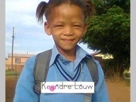 Keandre Louw, 5, was murdered in June last year, allegedly by her father. Photo: Submitted.