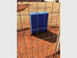 An installed prepaid water meter.