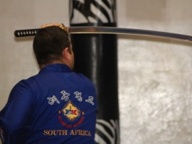 Sabunim Martin Prinsloo, instructor at the Harmony Dojo.