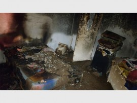 The woman's burnt bedroom. Photo submitted.