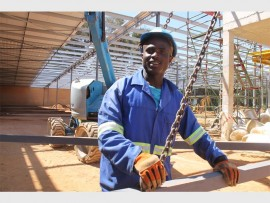 Themba Ncube, construction worker for RSB Construction. He says he was involved in the construction of the Mall of Africa and Secunda Mall as well.