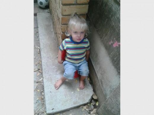 Three-year-old Poppie van der Merwe.
