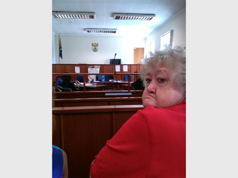 Louisa Koekemoer's mother, Susan Bothma, supporting her daughter in court.