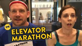 From riding an elevator to winning a marathon