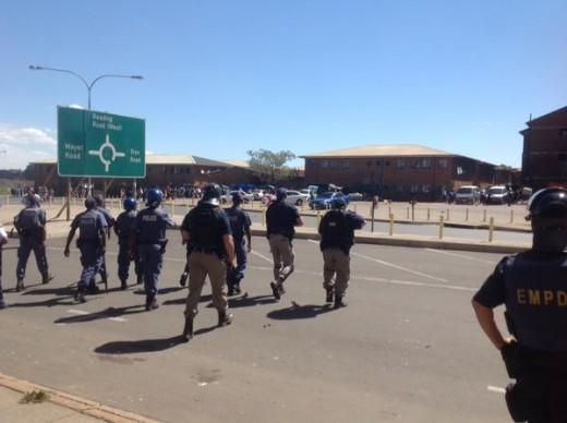 POLICE on high alert in Benoni. Photograph: Jacaranda News