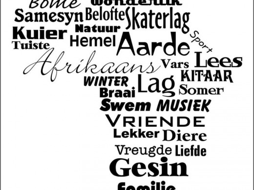 There is a place for Afrikaans...