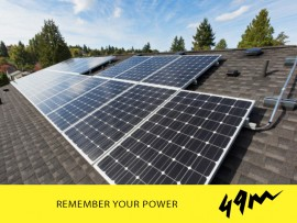 Changing all the light bulbs to LED, cooking with gas and installing a solar hot water system are all steps towards living off the grid. Photo: 49m