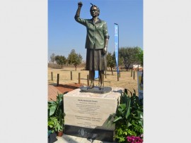 The newly unveiled, life-size statue of Germiston's Bertha Gxowa, was unveiled at the Ke-Ditselana Cultural Village, in Katlehong, on Wednesday.