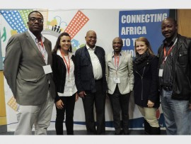 MMC for City Planning and Economic Development Clr Thumbu Mahlangu (third from left), with delegates from various mining companies, at the Ekurhuleni Mining Round Table, held in Kempton Park, recently. The delegates are, Emmanuel Chuene from the South African Forum of Economic Development (left), Rane Viljeon from Goldplat Recovery, Coltrone Letswalo from the Department of Trade and Industry, Bianca Webb from Goldplat Recovery and Lawrance Zwane from Apollo Bricks.
