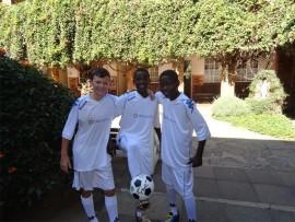 From left are: Alessio Bisotto, Takadzwa Mandigo and Rivoningo Makhuba.
