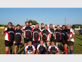 """The Germiston Simmer Rugby Club """"old boys"""", the Black Jacks, faced off against the Gaborone Rugby and Football Club's senior side, in a tough match."""