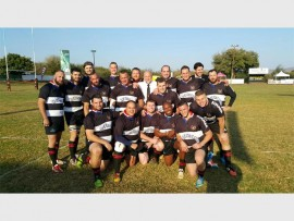 The Germiston Simmer Rugby Club were invited to compete in the Gaborone Rugby and Football Club's 40th anniversary tournament, in Botswana, recently. Here the first team players prepare for their match.