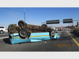 The taxi in which four people died and others sustained serious injuries.