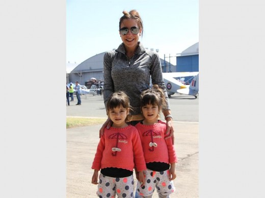 Carla Pantazopoulos enjoyed the Rand Airshow with her four-year-old twins Juliana (left) and Tatiana.