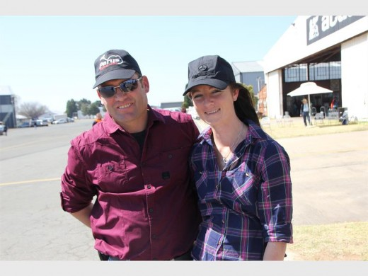 Frank King and Anja Keulder were among the patrons who enjoyed the high-flying action at the annual Rand Airshow, last Sunday.