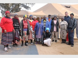 Elderly members of the Makause Developing Service Centre are (from left): Sarah Mudau, Elisabeth Hlaswayo, Christina Kebeda, Elda Makoto, Mavis Masengemu, Lizzy Hlungana, Solomon Rafaoa, Norah Mtshali, Legena Ramkalima, Juel Mkhozana, Lourens Botha (Gafa) and Stephen Mosime.