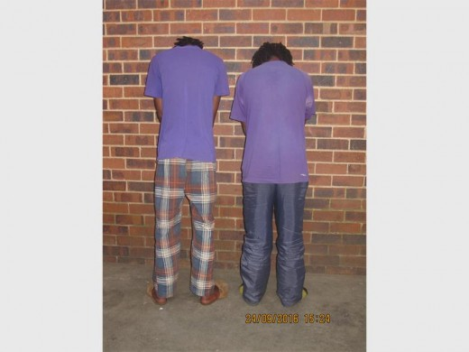 These two men, aged 26 and 30 years old respectively, were arrested by the Primrose police for business-breaking and theft.