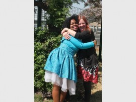 Puleng Sekabate (left) loves and adores her vegetarian friend Melissa Hart.