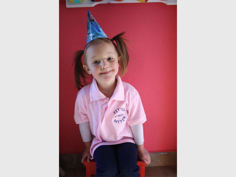Ariella Lings 4 Wears A Party Hat In Celebration Of Pitter Patter Academys 18th Birthday Recently