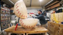 Amazing Baseball Chair Woodwork Project!