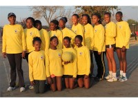 Left: Coach Girly Mnguni is pleased with the performance dispalyed by the U/15 netball team that represented KwaThema at the recent Masakhane games.