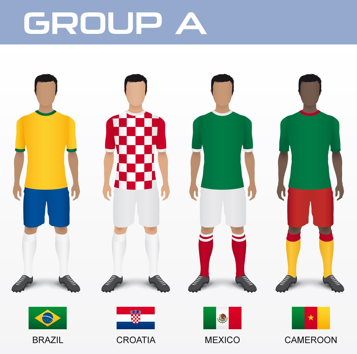 huge selection of f4a43 a0332 FIFA 2014 World Cup Teams and Fixtures   African Reporter