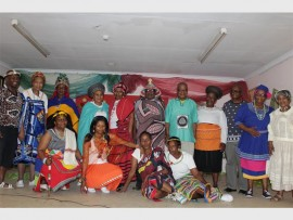 Senior citizens of the Tsakane Old Age Home with staff members during the heritage celebration on Wednesday.