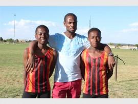 Karabo Mashilo, coach Pule Tjaoana and Siyabonga Ngqongwa.