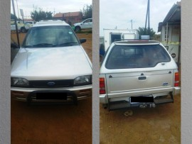 The vehicle that was recovered in Etwatwa by the EMPD.