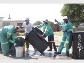 These youngsters of KwaThema are making a difference in the community. They are Mfanimpela Ndimande (left), Sibusiso Zulu, Nkosinathi Shabangu and Thabang Molokoane.